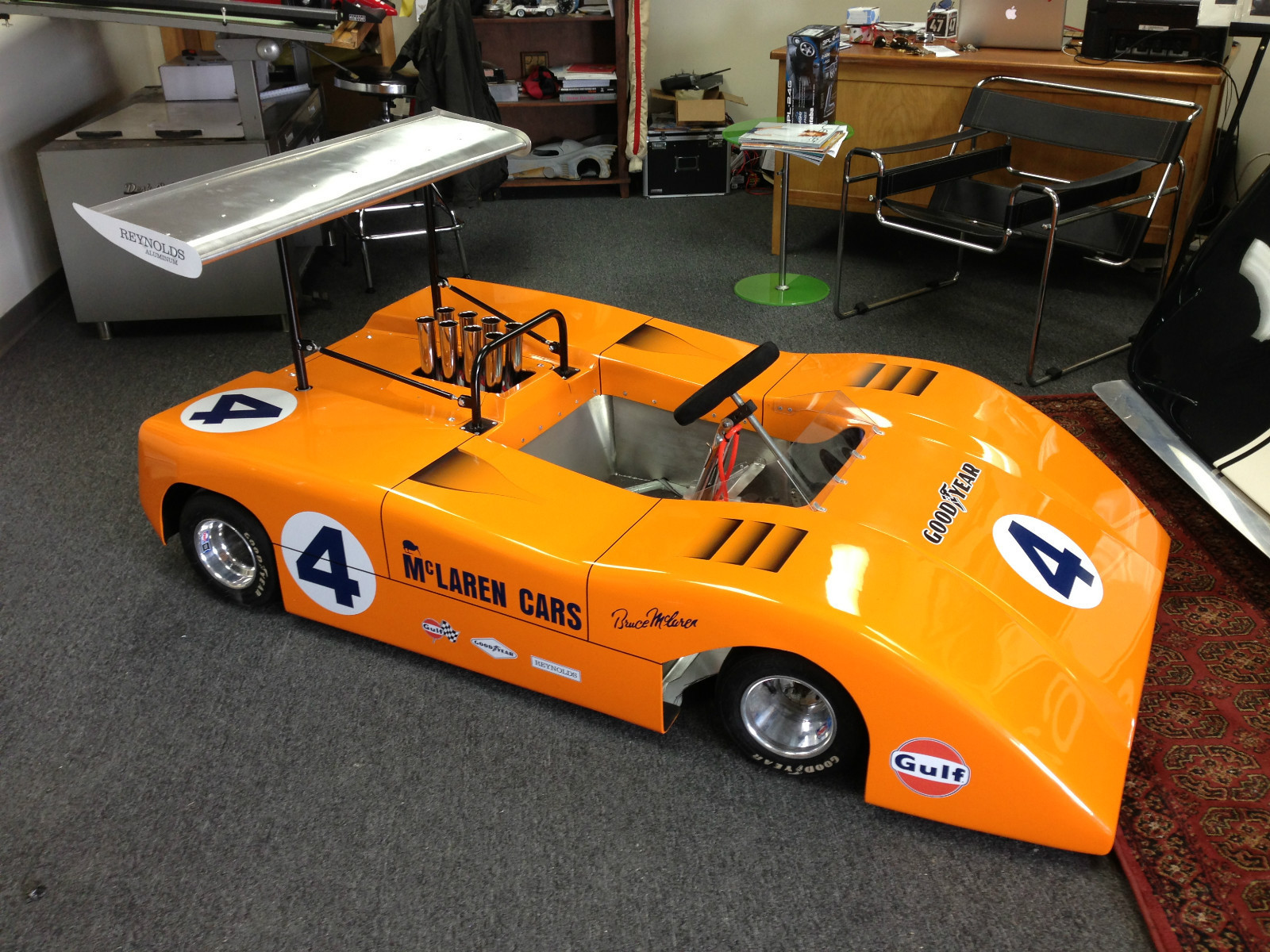 half scale mclaren can am car. Black Bedroom Furniture Sets. Home Design Ideas