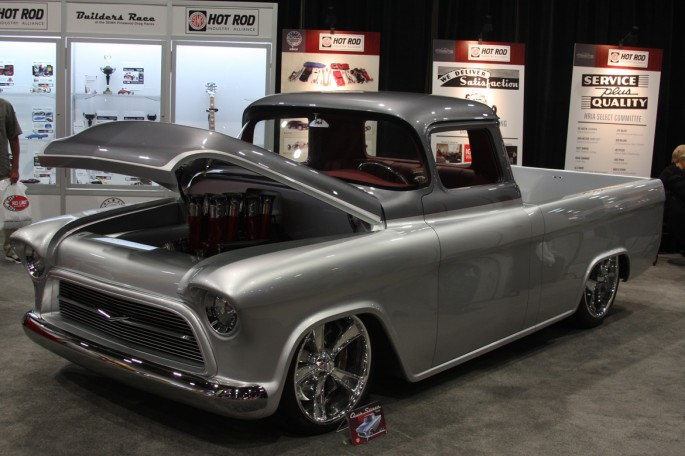 Chevy 1957 truck quik silver great 8 2013 sema 207