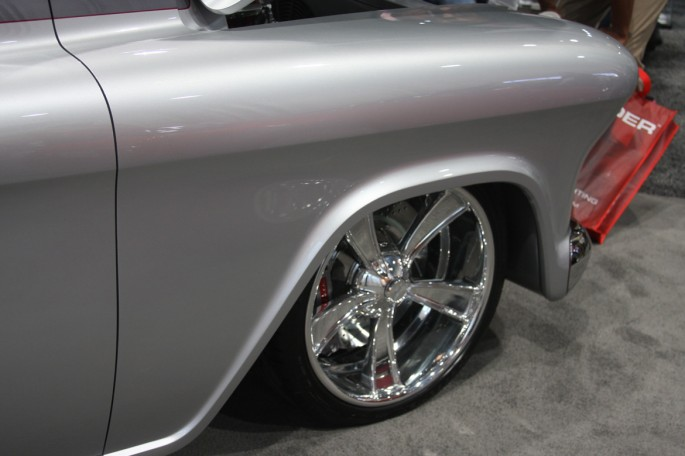 Chevy 1957 truck quik silver great 8 2013 sema 223