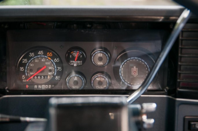 Gauges? We don't need no stinking gauges! No idea if the idiot lights work, but the factory gauges weren't known for their accuracy, so not a whole lot lost. A tach would have been nice, though.