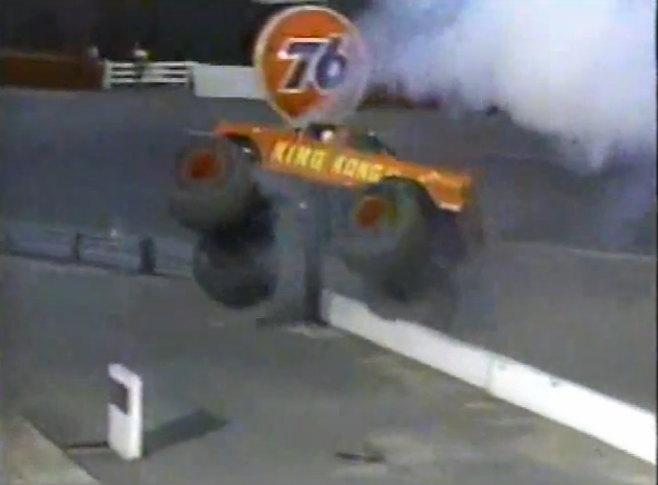 Best of 2019: The Greatest Monster Truck Wreck Of All Time Involves King Kong, Fire, And Wrecked Cop Cars