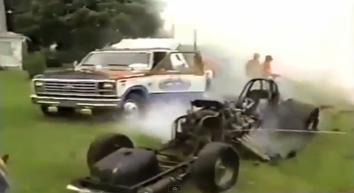 This Video Of Gary Phillips Blowing Up A Funny Car And Ending Up In A Farmer's Garden At National Trail Raceway In 1986 Is Nuts – Driver OK
