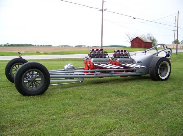 BangShift.com 1959 Chassis Research Twin Engine Dragster