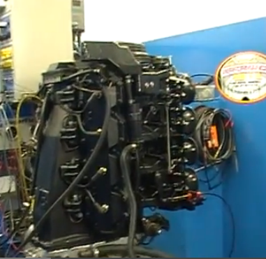 Screaming Dyno Video: Watch A Hot Rodded Two Stroke Outboard V8 Boat Motor Make 370+ HP!