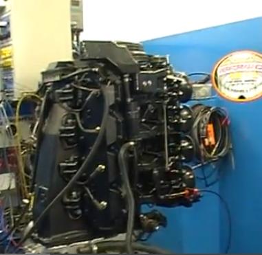 Two stroke v8 dyno for Outboard motor cylinder boring