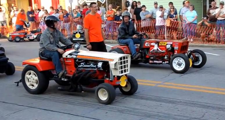 Garden Tractor Drag : Bangshift v lawn tractor racing