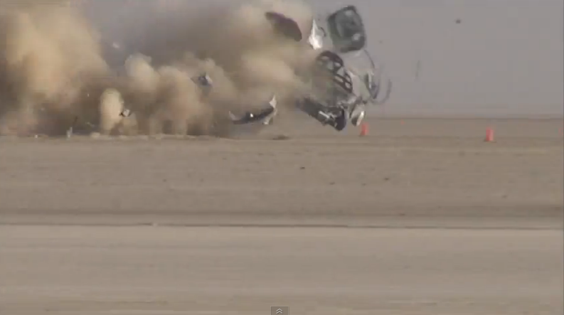 Video: The Most Violent Land Speed Racing Crash We've Ever Seen – Driver OK – 209 MPH Wreck