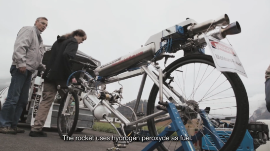 Watch The Hublot Rocket Bicycle Go 177 MPH To Set The All Time Bicycle Speed Record
