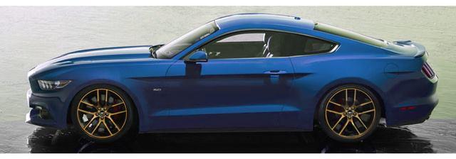 Blue Mustang 2015