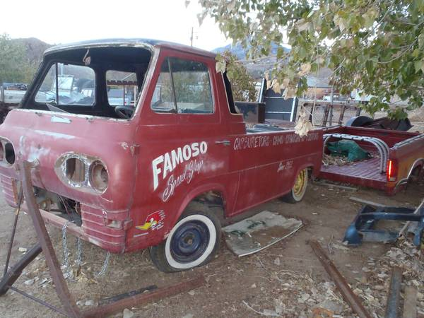 epic famoso speed shop 1963 ford econoline pickup for sale on craigslist. Black Bedroom Furniture Sets. Home Design Ideas