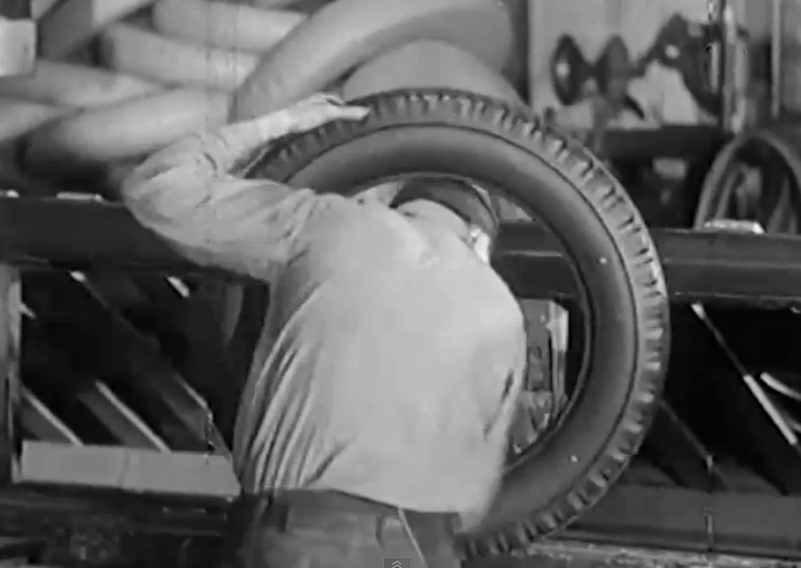 Historic Video: Watch how bias-ply tires were made and tested back in the early 30s!