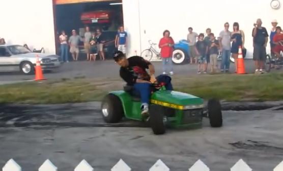 Garden Tractor Drag : Bangshift slicks garage john deere tractor