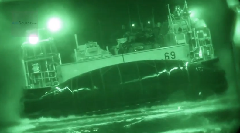 This Video Of Huge Navy Hovercraft Launching And Docking From INSIDE A Ship Is Flipping Awesome
