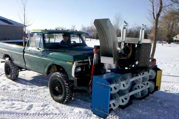 Bangshift Com 302 Powered Snowblower