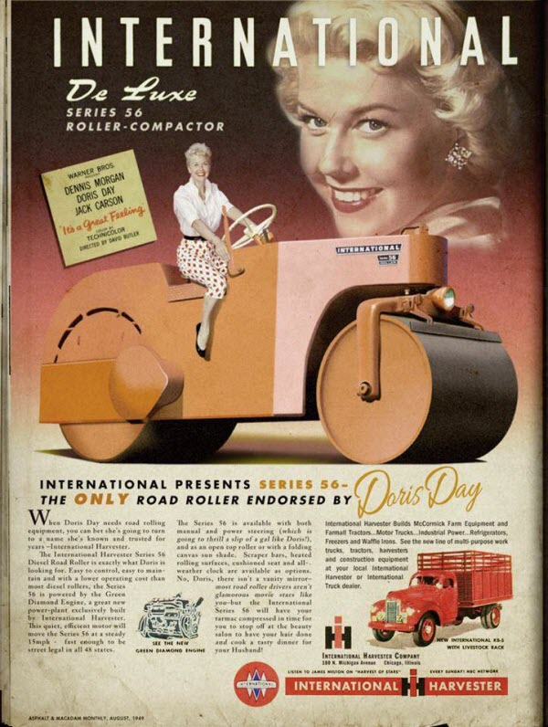 Doris Day's International Road Roller Ad is an Introduction to the Weirdest Celebrity Product Endoresments Ever