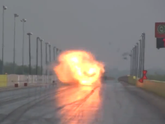 Friday KABOOM: Watch An A/Fuel Dragster Blow Up Like There's A Nuclear Device Inside The Engine
