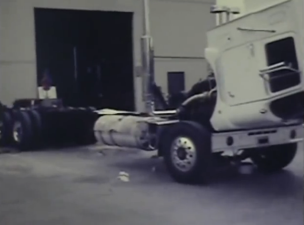 Epic Video: Footage Of Evel Knievel's Huge Custom 1974 Mack Truck At The Mack Factory In The 1970s