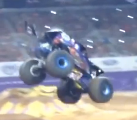 "Watch Ryan Anderson Make The Greatest ""Save"" In Monster Truck History – Truck Goes From On Roof To On Wheels!"