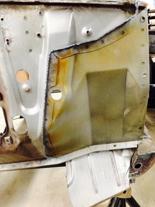 We're not sure what's to become of the steel that Kevin removed but he did in in a pretty surgical manner and that piece could be reused by someone restoring a Valiant. Do people restore Valiants?