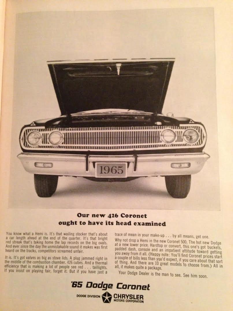 BangShift.com 1965 car magazine ads