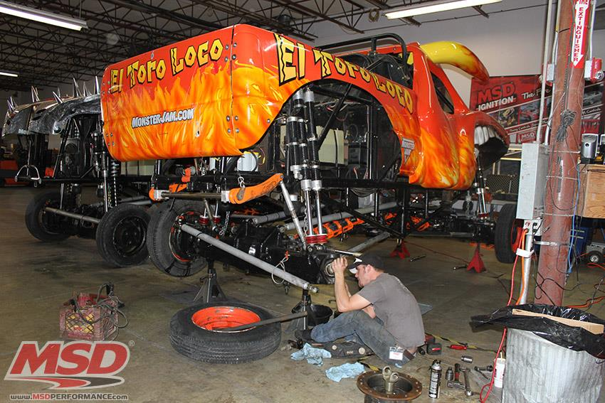 Gallery: Monster Trucks Invade And Occupy The Shop At MSD Performance!