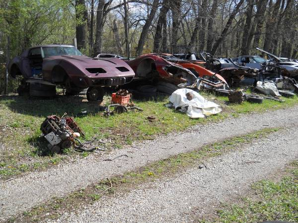 Bangshift Com Buy This 57 Year Old Corvette Wrecking Yard Or Any Of The Vettes In It