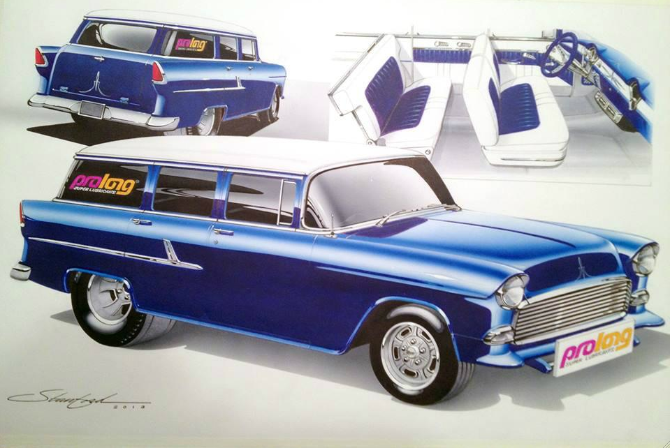 Prolong's Latest Project Is A 1955 Chevy Wagon Built To Honor Drag Push Cars From The Past