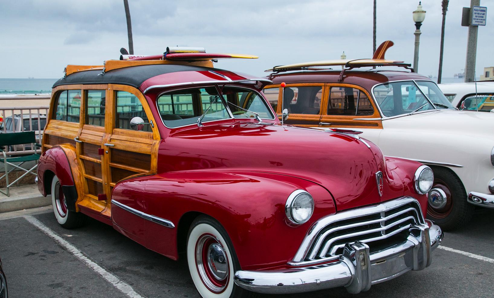 Woodies! Every Woody At The Beachcruiser Car Show At Huntington Beach, California