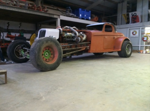 Watch This 16V92 Detroit Diesel Powered Hot Rod Fire Up – One Huge Coupe