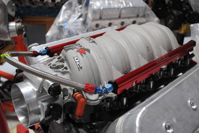 The heads and cam were teamed with a 102-mm Fast LSXR intake, Fast fuel rails and 42-pound injectors (also run on stock motor).