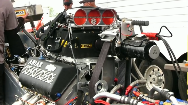 Gearhead Video: The Story And Cool Tech Behind The Arias/Fontana Hemi – Chevy Block With Hemi Heads On Nitro!