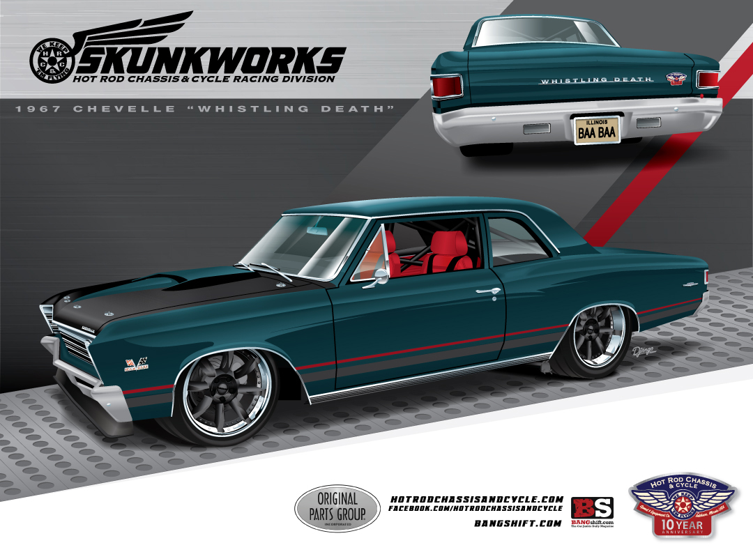 Project Whistling Death: A 1967 Chevelle From The Skunkworks At Hot Rod Chassis And Cycle