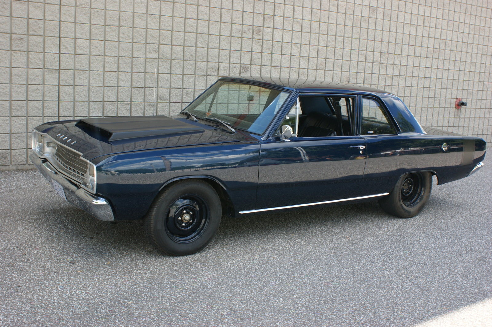 this 1967 dodge dart sedan is one tough looking street sweeper. Black Bedroom Furniture Sets. Home Design Ideas