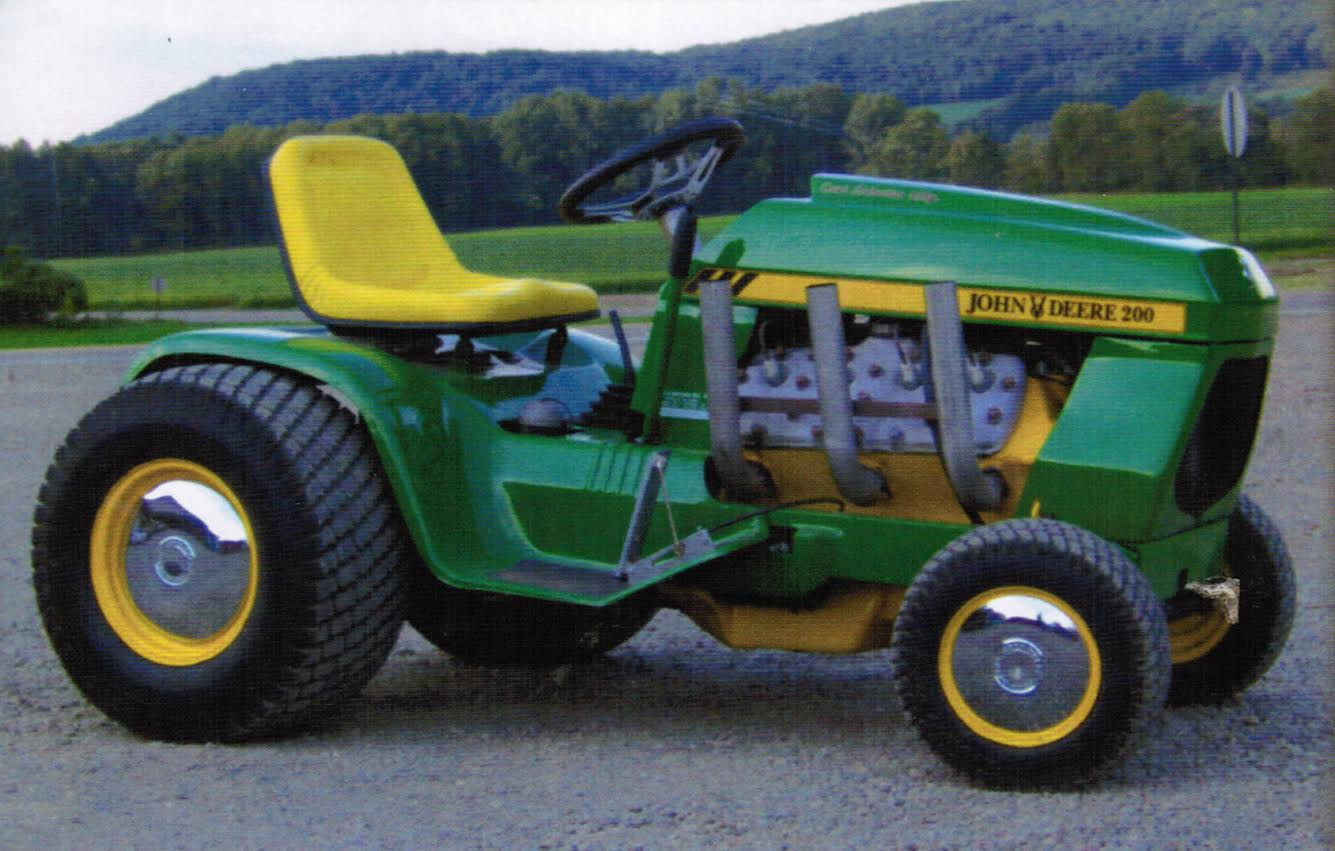 Show home build gas powered mini tractors - Video This Ford Flathead V8 Powered 1970s John Deere Lawn Tractor Is Homebuilt Bangshift Perfection