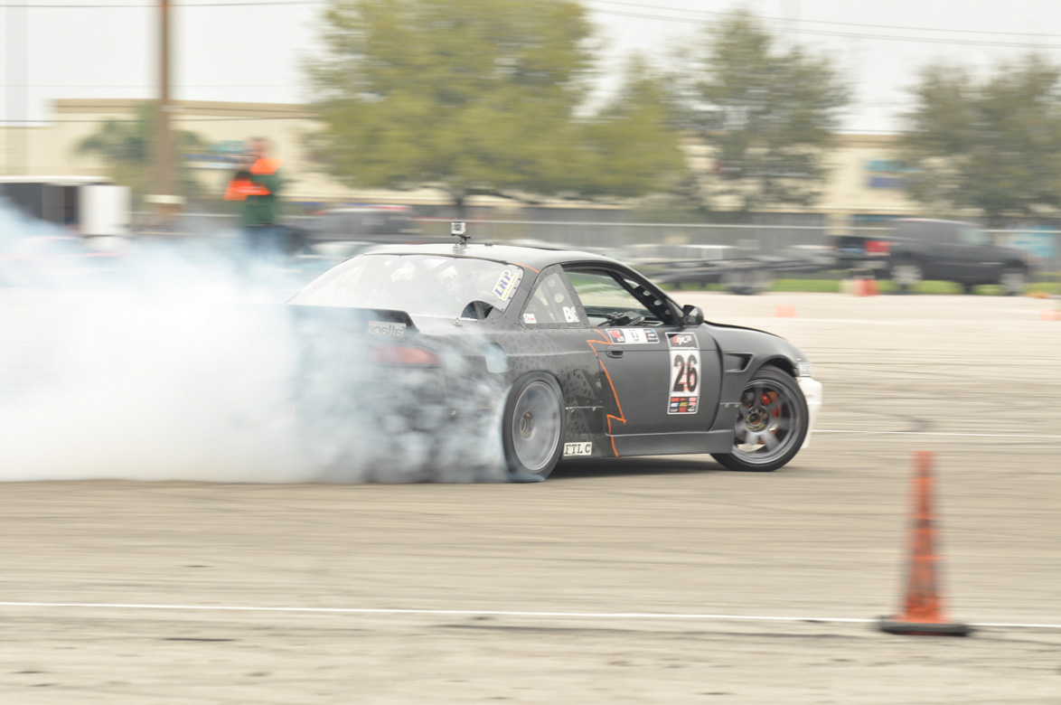 Action From The Lone Star Pro Am Drifting Meet – Sideways and Shredding Tires!