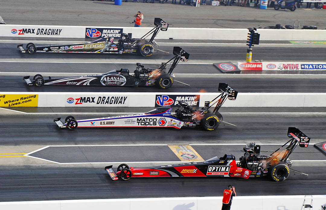 Robert Hight, Courtney Force, And Brittany Force Start Strong At NHRA 4-Wide Nationals