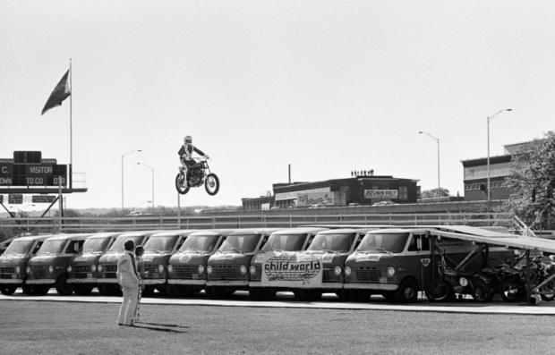 "Evel Knievel Motorcycle Daredevil Jumper On His Harley: BangShift.com Evel Knievel's ""Scramble Van"""