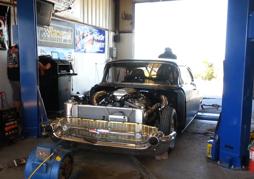 "Watch Jeff Lutz's New '57 ""Evil Twin"" Chevy Make 2,140hp At The Tires On The Dyno! Nasty Stuff –"