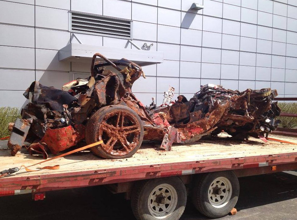 2001 Mallet Corvette Saved From Corvette Museum Sinkhole Is The Most Thoroughly Devastated Car We Have Ever Seen