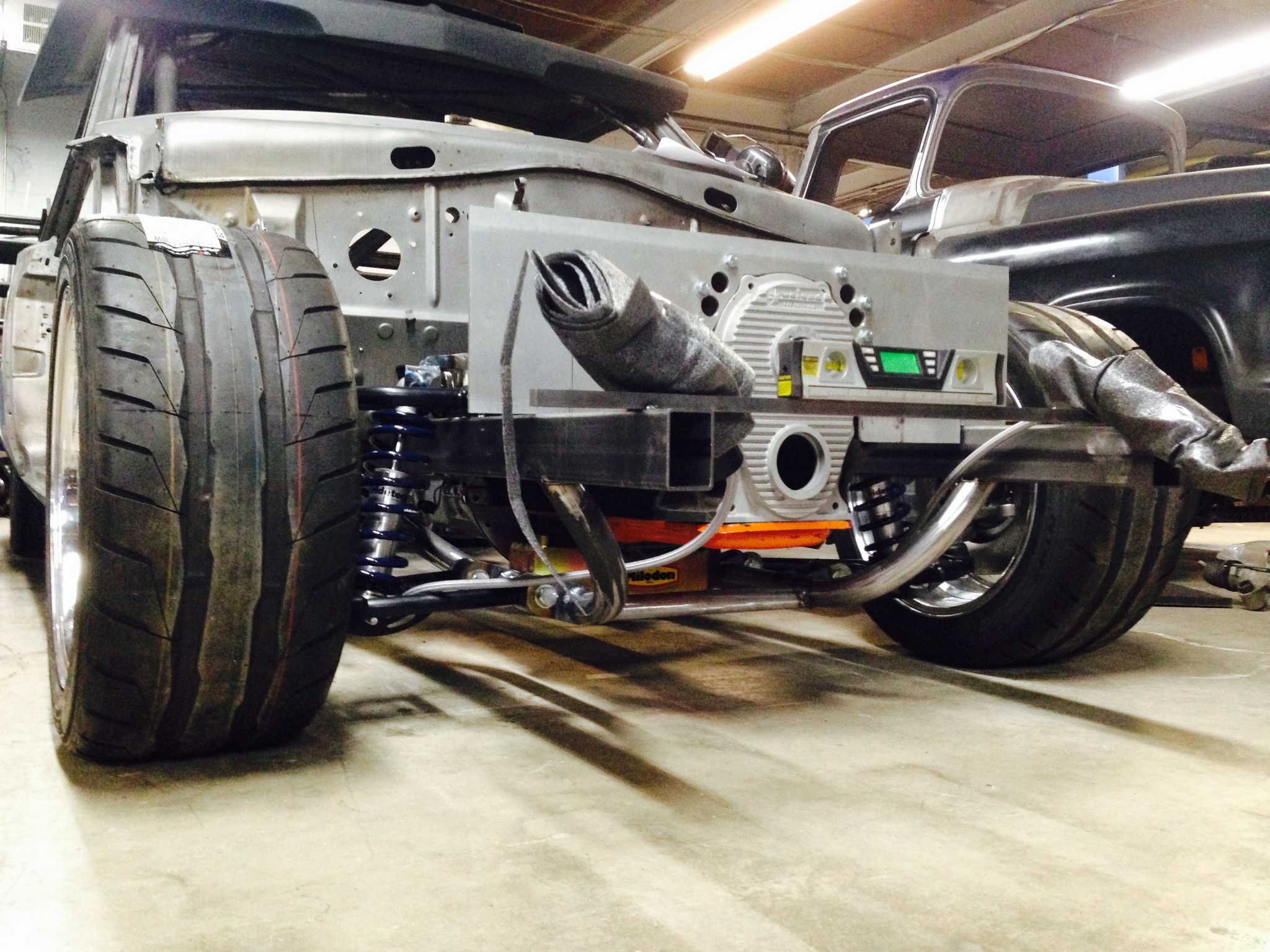 Project Violent Valiant Update: The Front Suspension Starts To Come Together With Fabrication And RideTech Parts