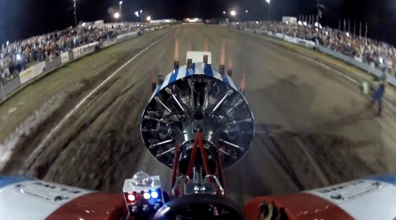 Best of 2019: Ride On A Crazed, Radial Engine Powered European Pulling Tractor – Header Flames Galore!