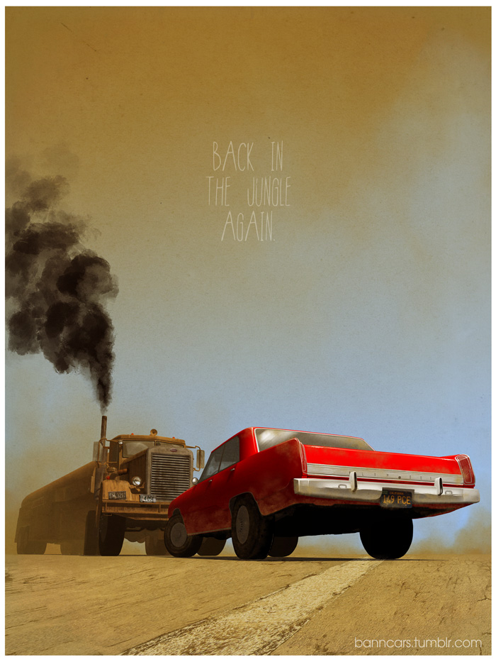 These movie-inspired car posters are the coolest art we've seen in months