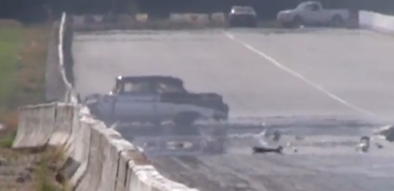 Watch This 1955 Chevy Suffer A Bad Top End Crash At Pacific Raceway – What Happened?