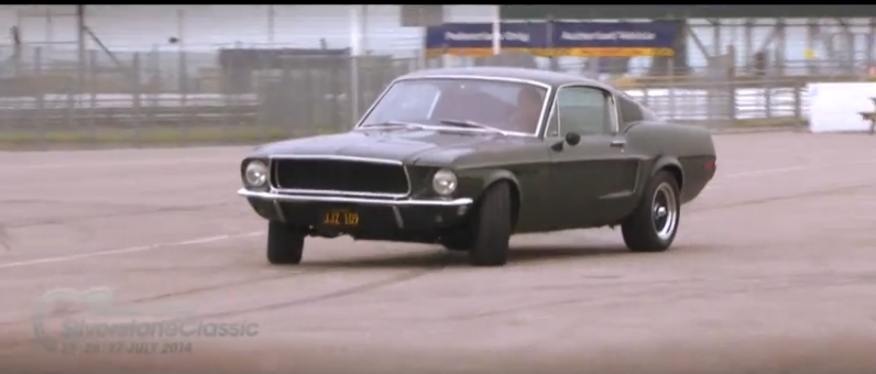 This Fun Recreation Of The Car Chase From Bullitt Pits The Mustang And The Charger Against Each Other On The Historic Silverstone Track In England