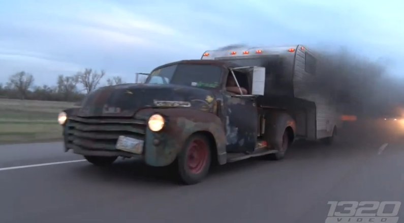 This Ratty Looking, Diesel Powered 1947 Chevy Truck Is Fugly, Functional, And Flippin' Fun (Video)