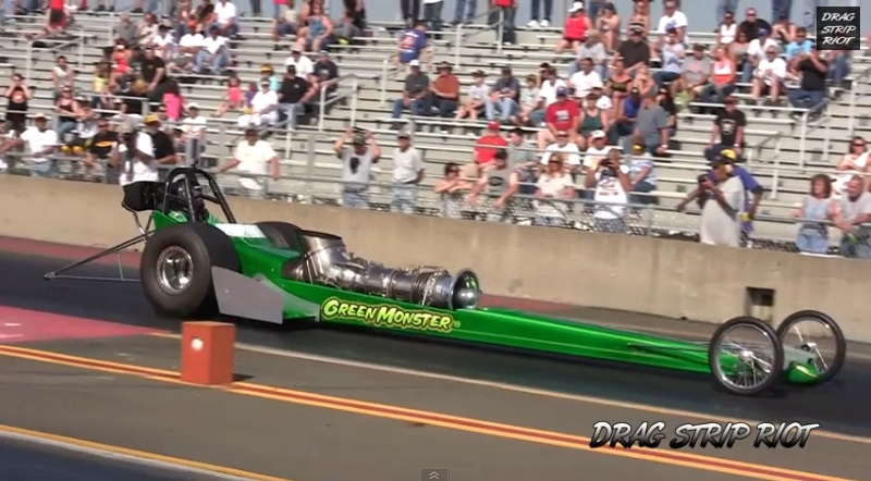 Watch Tim Arfons Make A Run In His Front Engine Turbine Dragster – Now With The Devil's Cigarette Lighter Fire Show