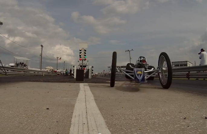 Get An Ant's Eye View Of What It Is Like To Be Run Over By A Junior Fuel Dragster