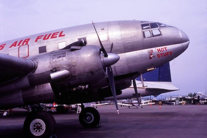 "C-46F N1837M msn 22388 ""Hot Stuff"" Everts Air Fuel at FAI, AK 3 June 2010"