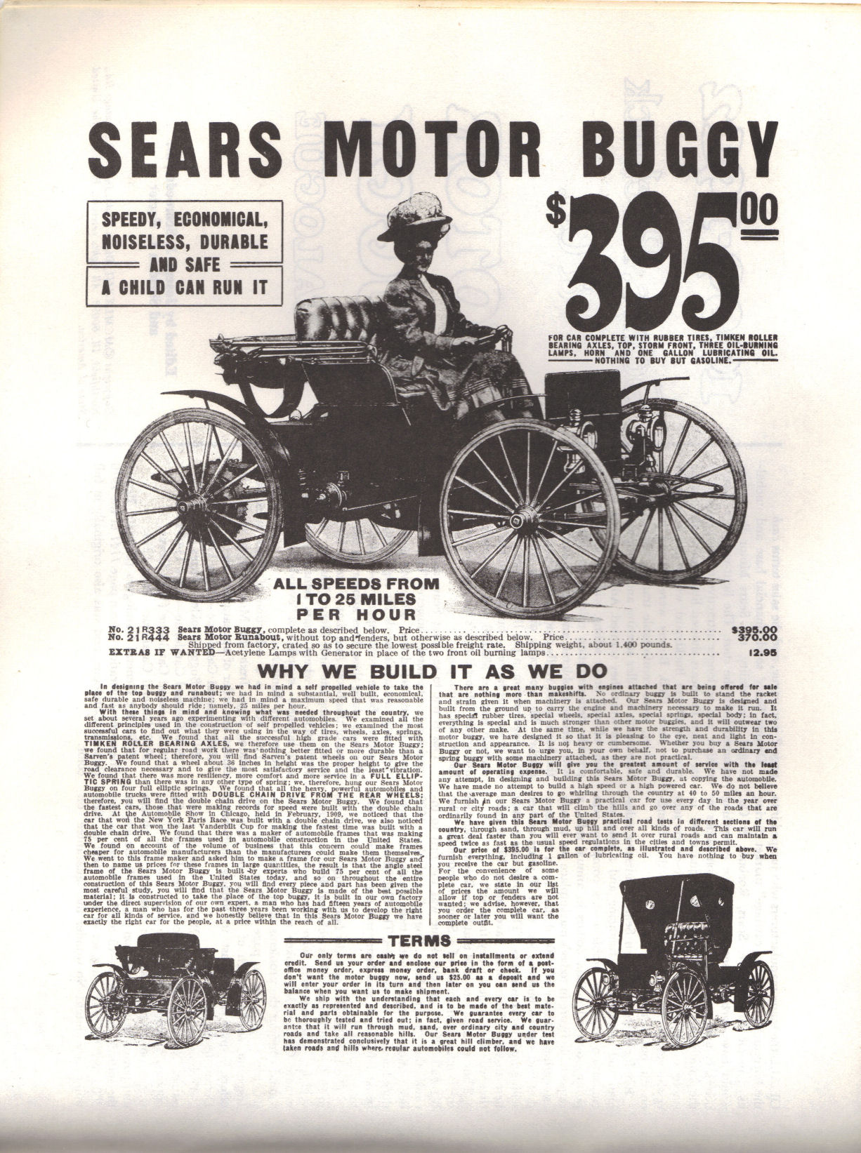 Back In The 1950s Through 1970s Sears Catalog Was 1910 Ford Tractor Electrical Wiring Diagram 1909 Motor Buggy
