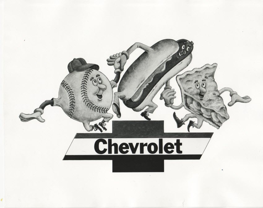 "GM got mileage around the world from its ""Baseball, Hot Dogs, Apple Pie and Chevrolet"" ad"